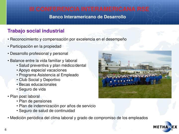 Trabajo social industrial