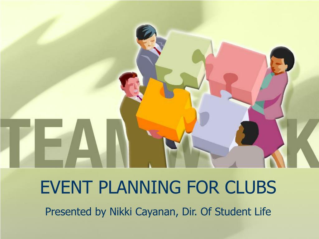 EVENT PLANNING FOR CLUBS