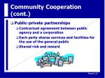 community cooperation cont