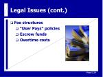 legal issues cont