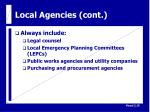 local agencies cont