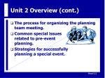unit 2 overview cont