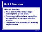 unit 2 overview