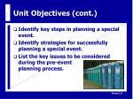 unit objectives cont