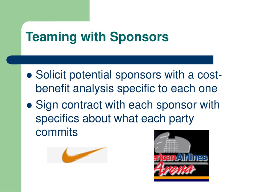 Teaming with Sponsors