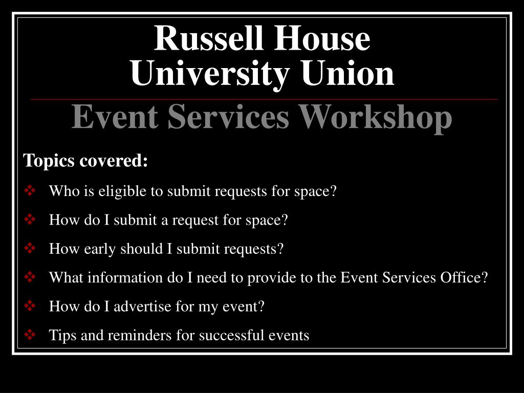 russell house university union l.