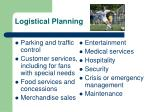 logistical planning5