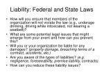 liability federal and state laws