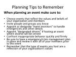 planning tips to remember