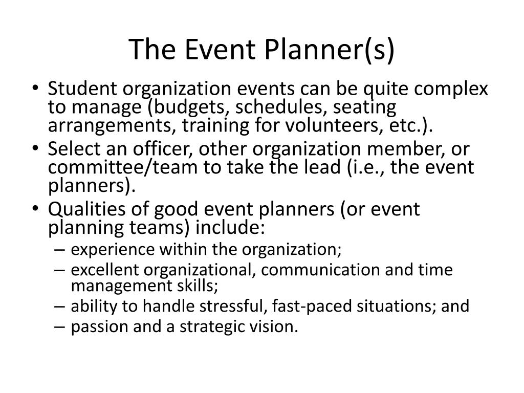 The Event Planner(s)