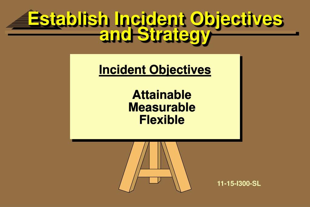 Establish Incident Objectives