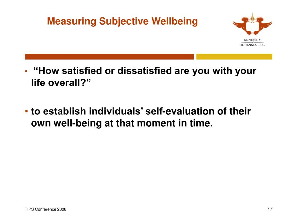 Measuring Subjective Wellbeing