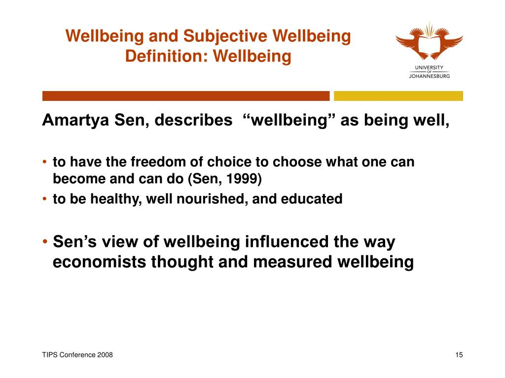 Wellbeing and Subjective Wellbeing Definition: Wellbeing