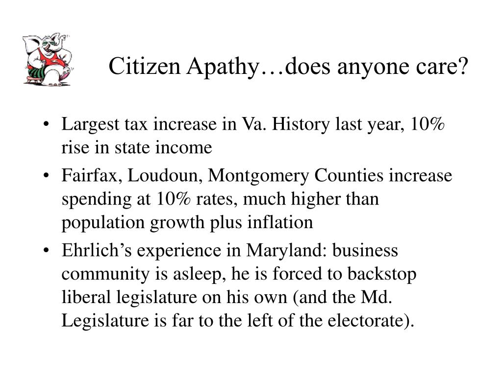 Citizen Apathy…does anyone care?