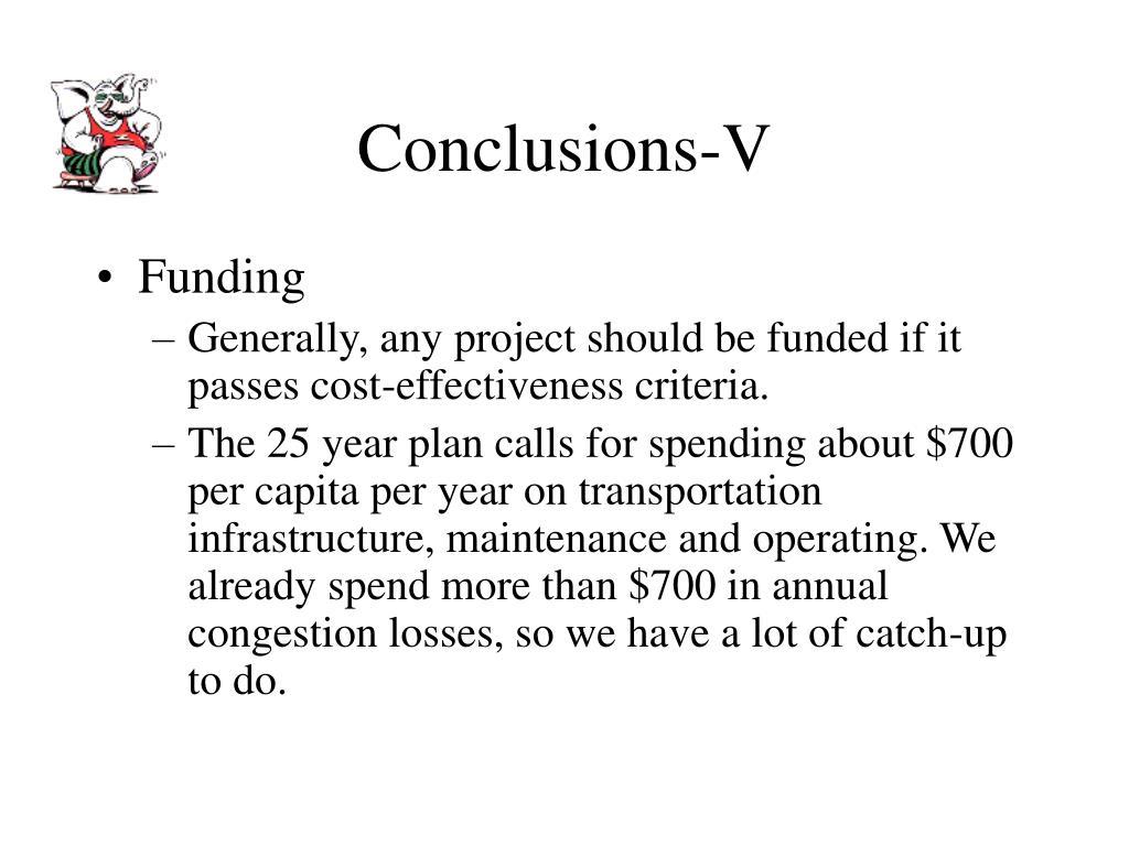 Conclusions-V