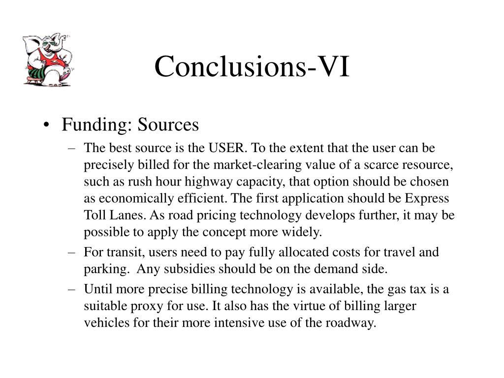 Conclusions-VI