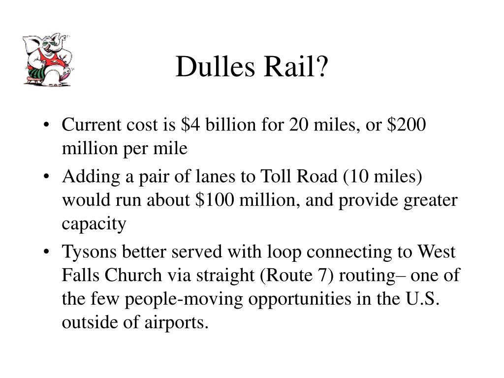 Dulles Rail?