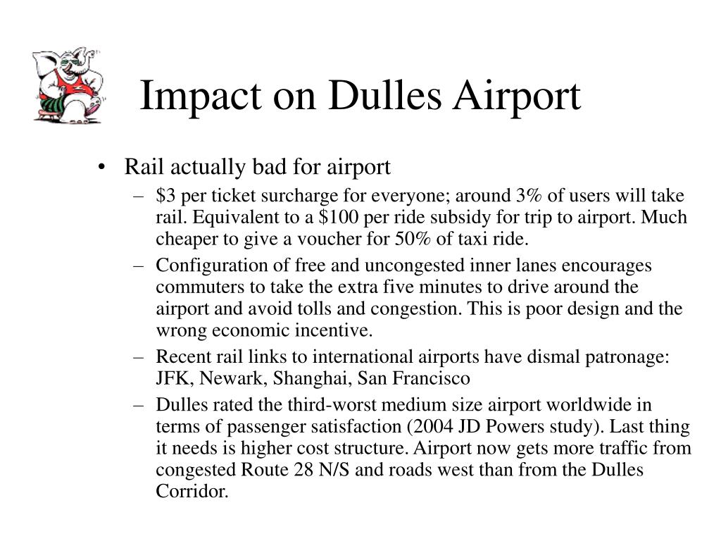 Impact on Dulles Airport