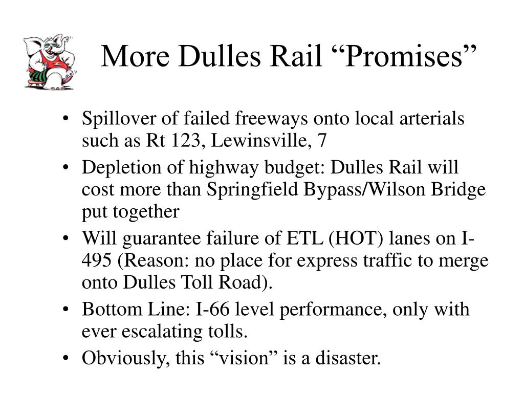 "More Dulles Rail ""Promises"""