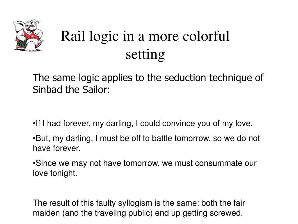 Rail logic in a more colorful setting