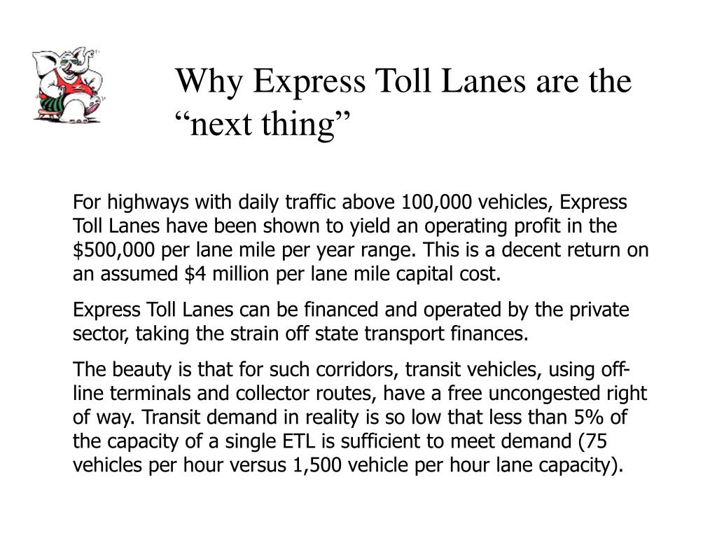 """Why Express Toll Lanes are the """"next thing"""""""