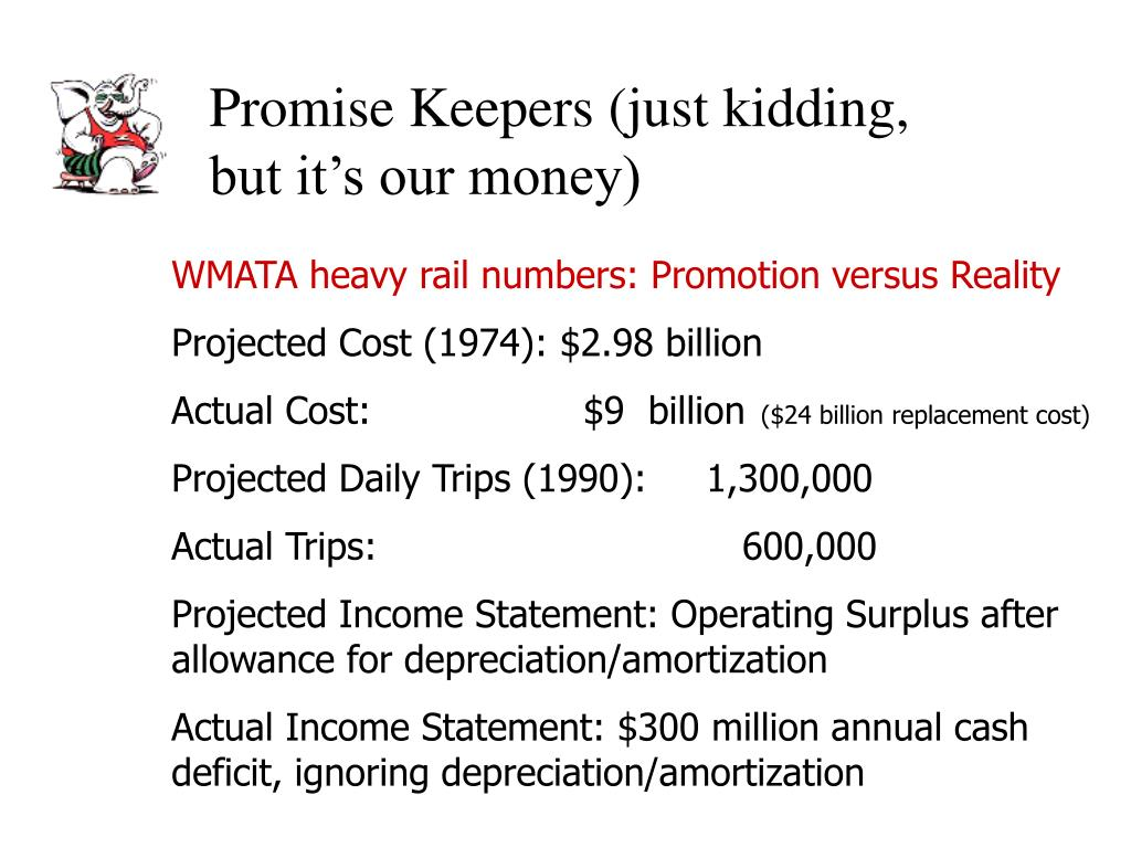 Promise Keepers (just kidding, but it's our money)