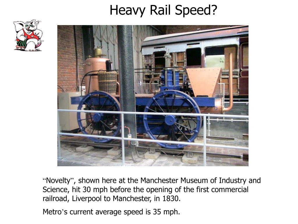 Heavy Rail Speed?