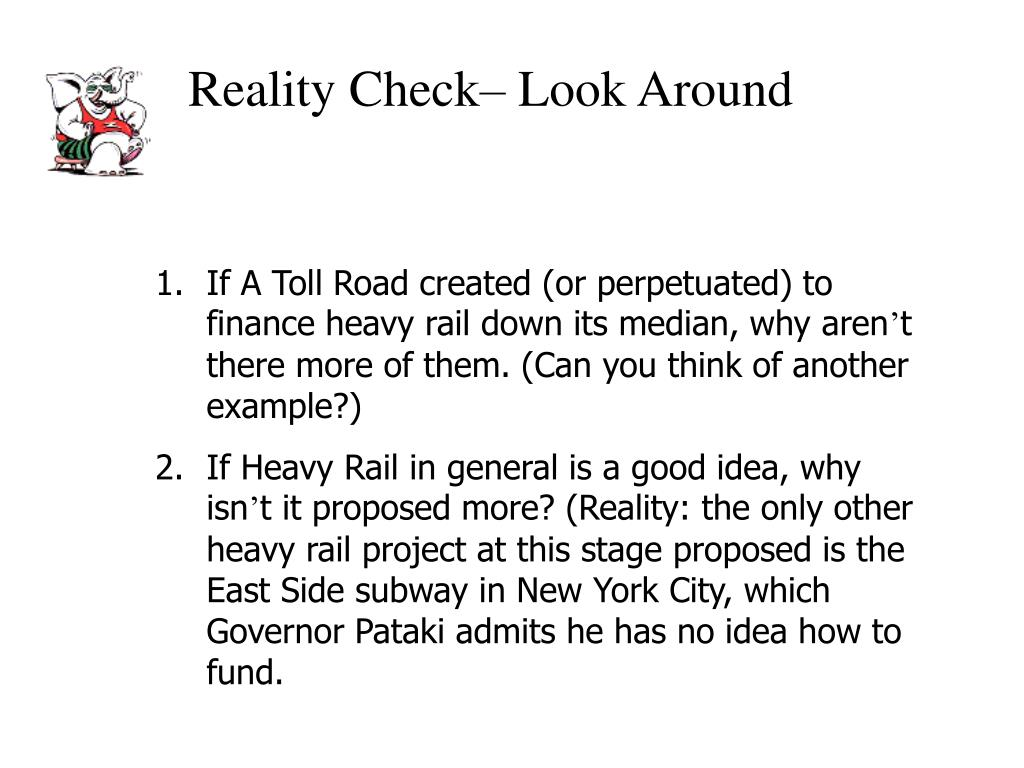 Reality Check– Look Around