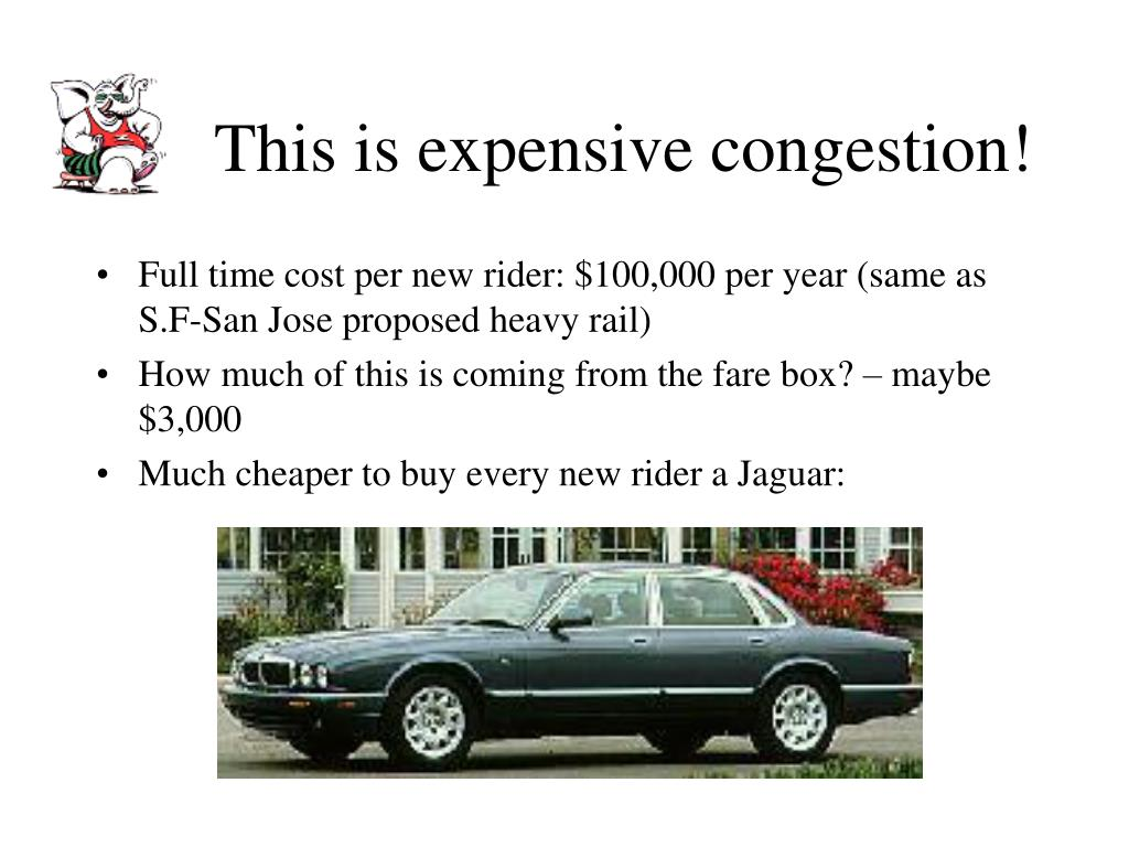 This is expensive congestion!