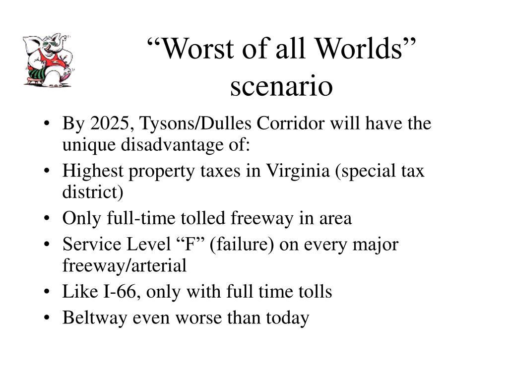 """""""Worst of all Worlds"""" scenario"""