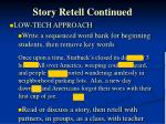 story retell continued