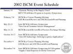 2002 iscm event schedule39
