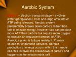 aerobic system15