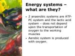 energy systems what are they
