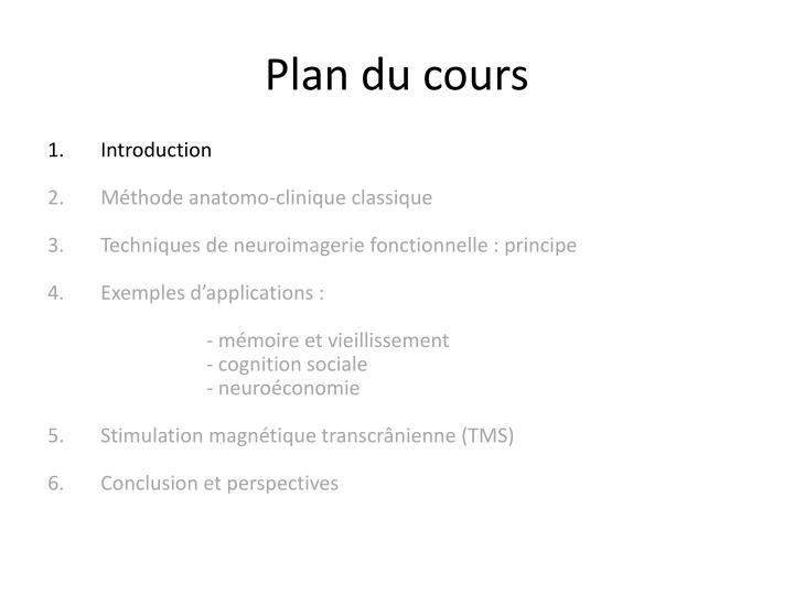 Plan du cours3