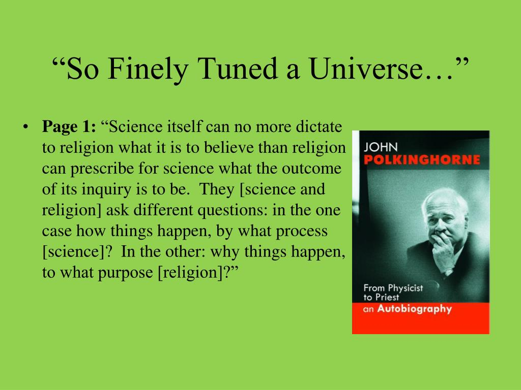 """So Finely Tuned a Universe…"""