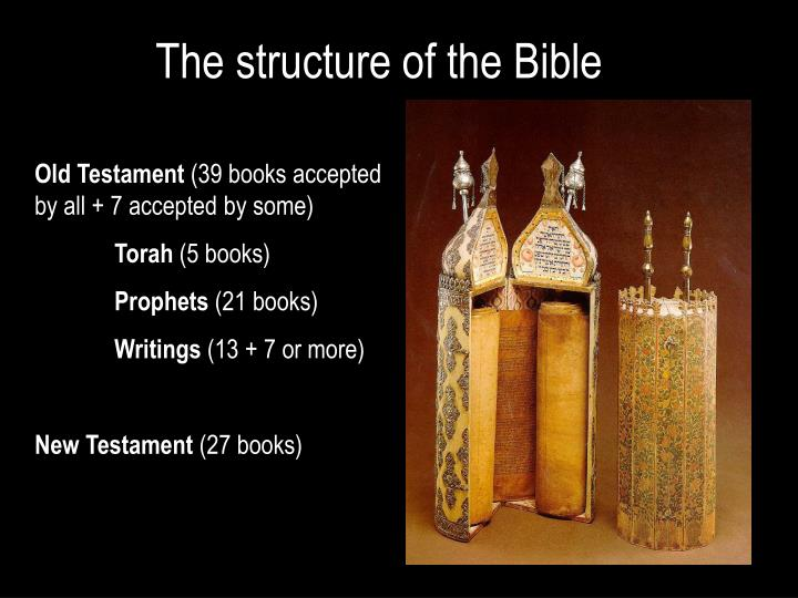 The structure of the bible