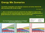 energy mix scenarios