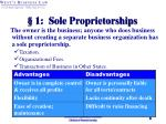 1 sole proprietorships