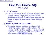 case 33 3 creel v lilly winding up35