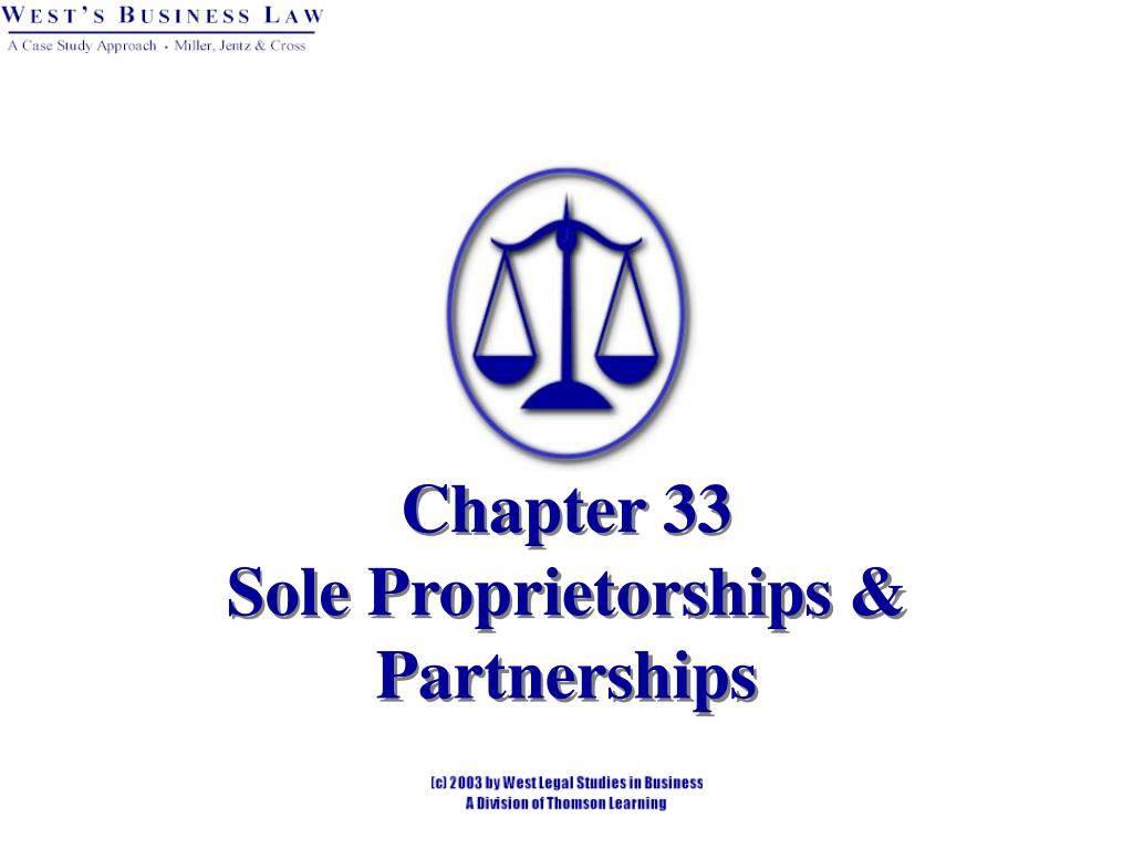 chapter 33 sole proprietorships partnerships l.