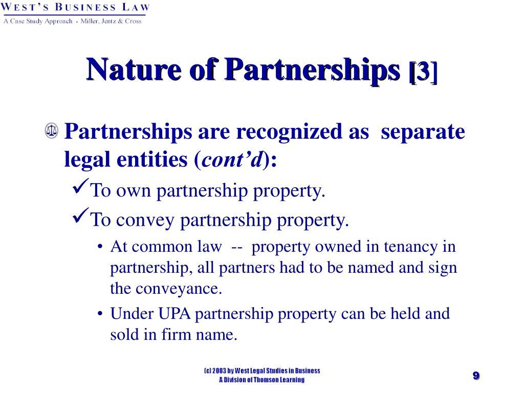 Nature of Partnerships