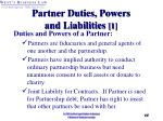 partner duties powers and liabilities 1