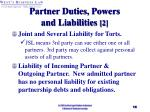 partner duties powers and liabilities 2