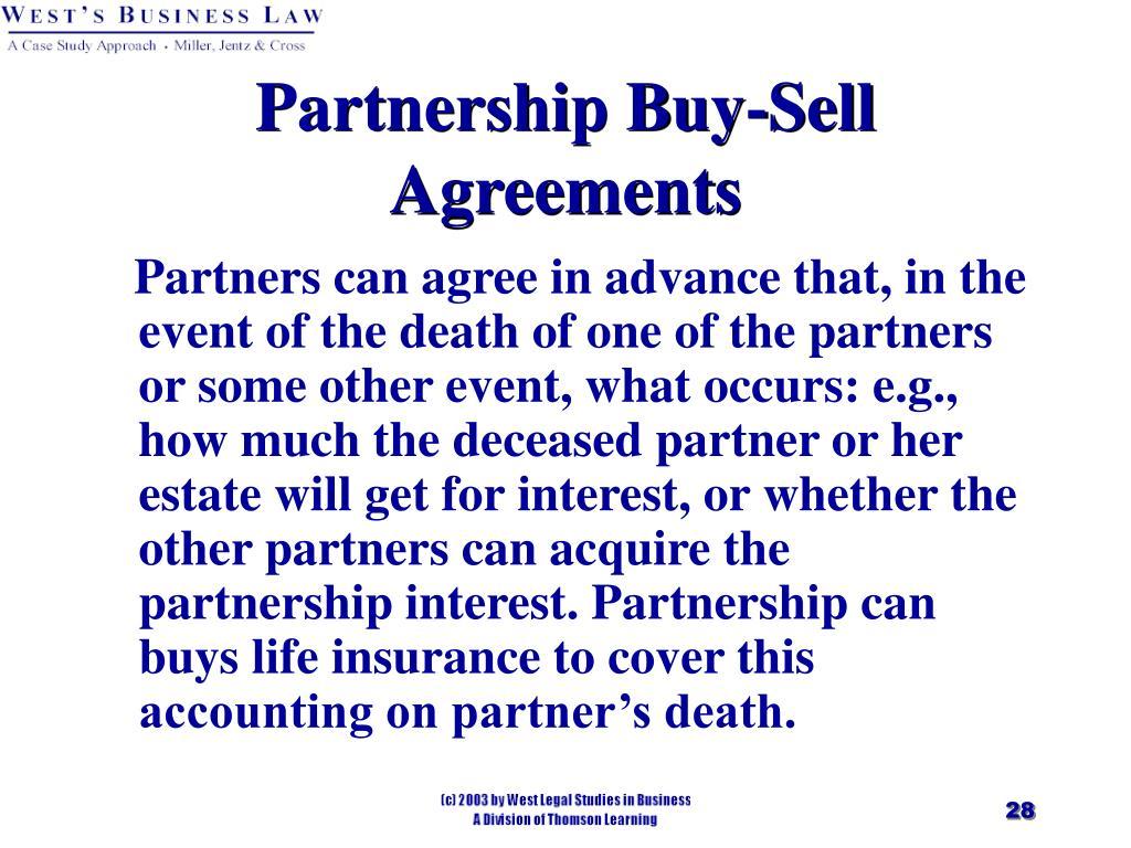Partnership Buy-Sell Agreements