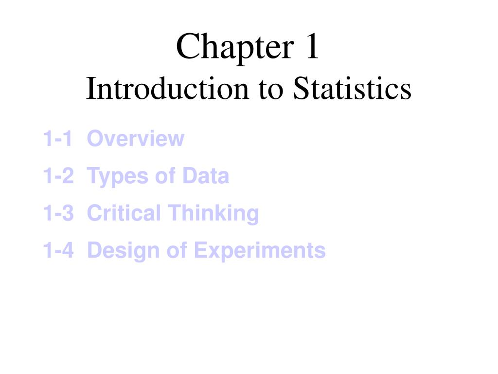 chapter 1 introduction to statistics l.