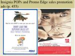 insignia pops and promo edge sales promotion ads p 455