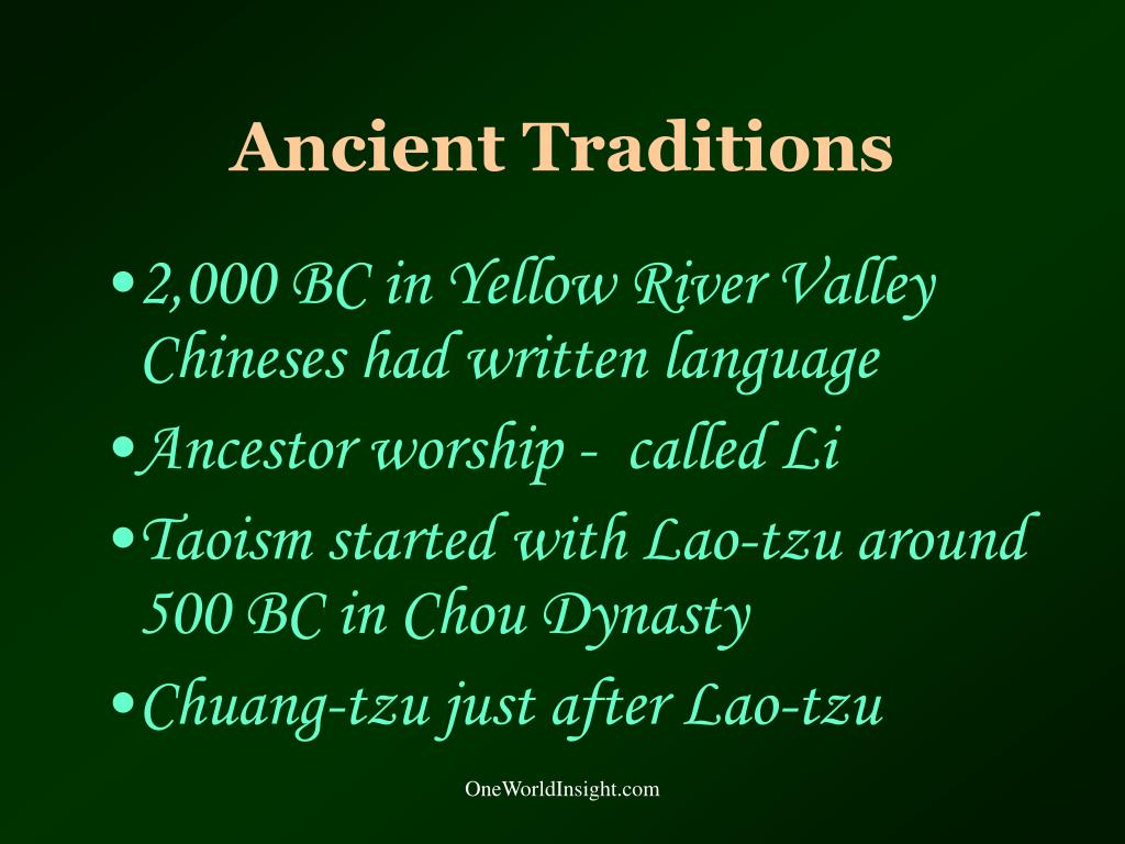 Ancient Traditions