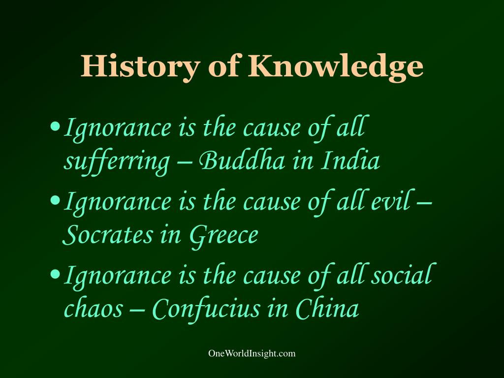 History of Knowledge