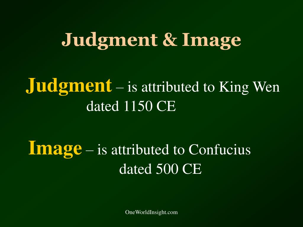 Judgment & Image